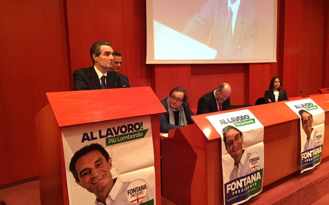 "Fontana a Busto: ""Pancia a terra per vincere in Lombardia e a Roma"""