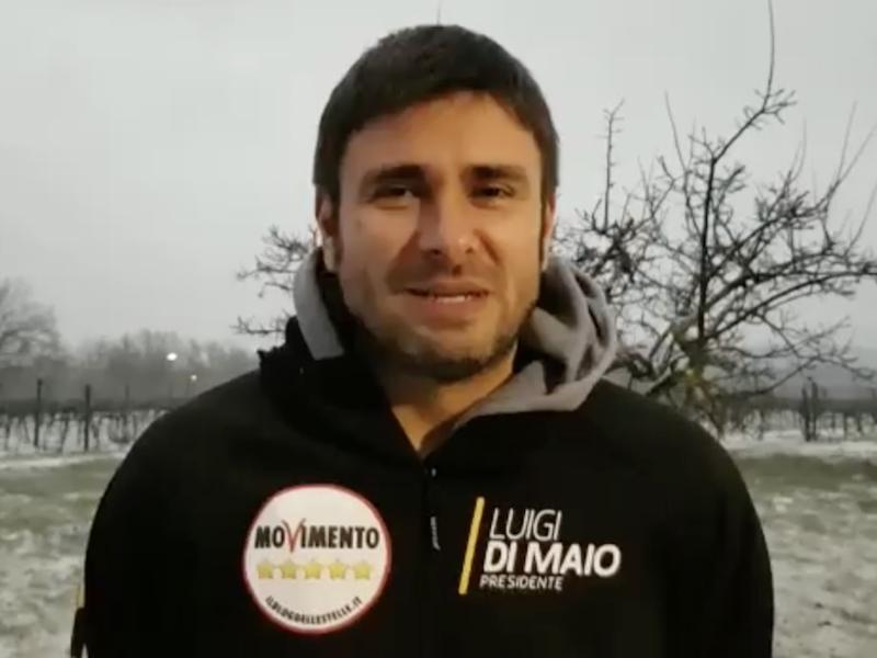 """L'augurio di Di Battista a Dario Violi: """"I risultati saranno sopra le aspettative"""""""